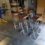 custom fabricated steel chairs